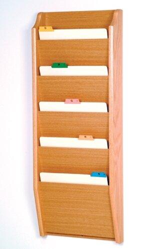 Five Pocket Chart Holder by Wooden Mallet