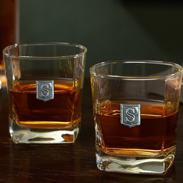 Yamashita Crested Rutherford Whiskey 10 oz. Glass Cocktail Glass (Set of 2) by Alcott Hill