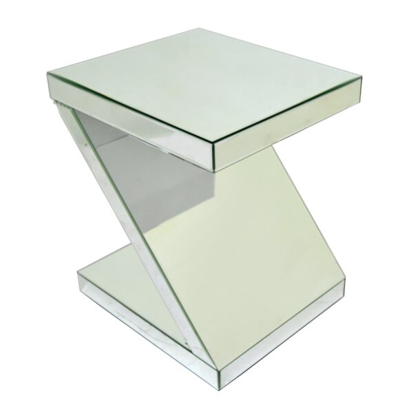 Mirrored End Table by Three Hands Co.