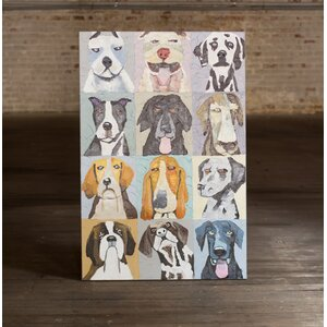 '12 Emotional Dogs' Oil Painting Print on Canvas by Latitude Run