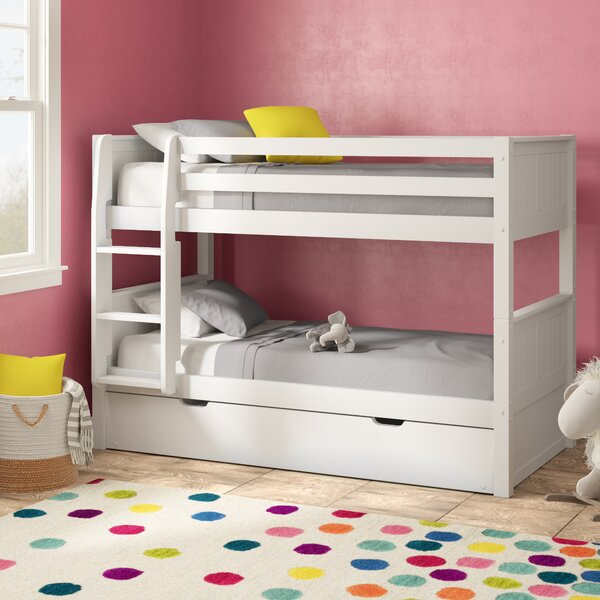 Burkley Low Twin over Twin Bunk Bed with Trundle by Mack & Milo