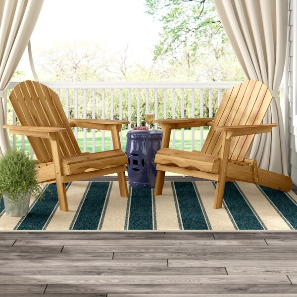 Boone Solid Wood Folding Adirondack Chair (Set Of 2) By Three Posts