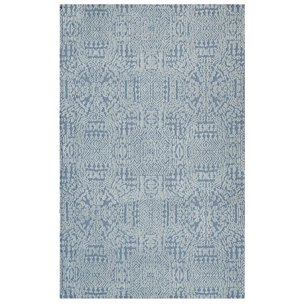 Burlison Ivory/Light Blue Area Rug by Bungalow Rose