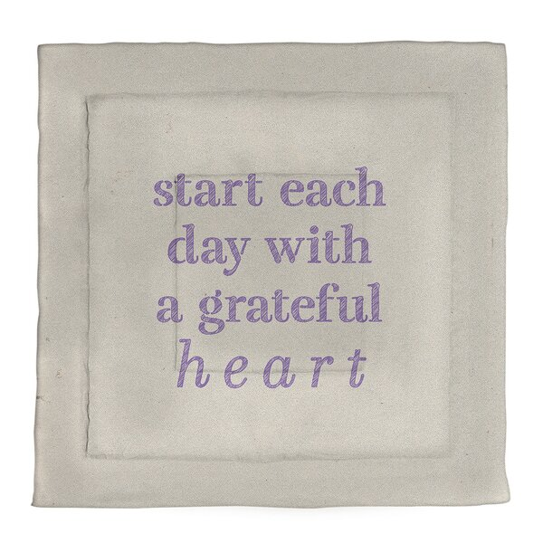 Gratitude Inspirational Quote Single Reversible Comforter