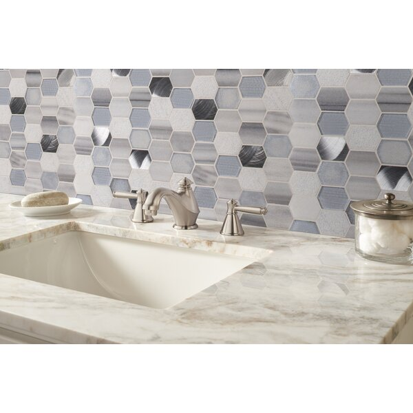 Harlow Picket Glass/Stone Mosaic Tile in Gray by MSI