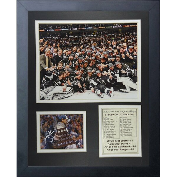 Los Angeles Kings 2014 Stanley Cup Champions Framed Memorabilia by Legends Never Die