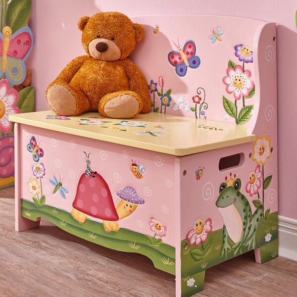 Magic Garden Wooden Toy Storage Bench by Fantasy Fields