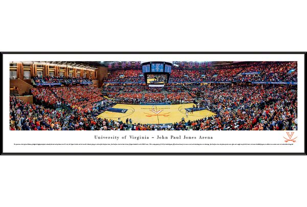 NCAA Virginia, University of - Basketball by James Blakeway Framed Photographic Print by Blakeway Worldwide Panoramas, Inc