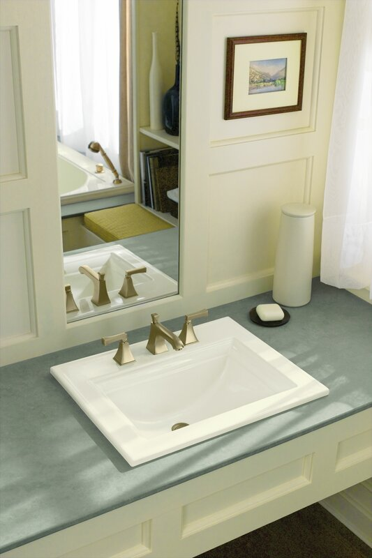 K 2337 8 0 33 47 Kohler Memoirs Ceramic Rectangular Drop In Bathroom Sink With Overflow