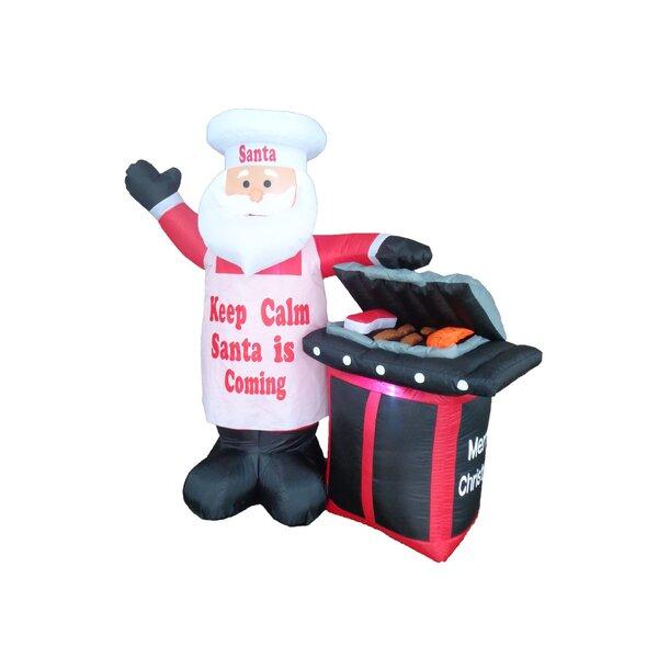 BBQ Santa Claus Christmas Decoration by BZB Goods