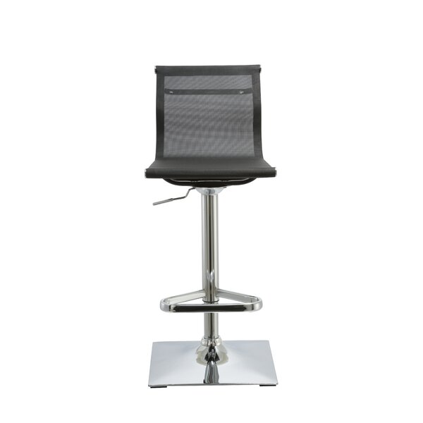 Kratz Adjustable Height Swivel Bar Stool by Orren Ellis