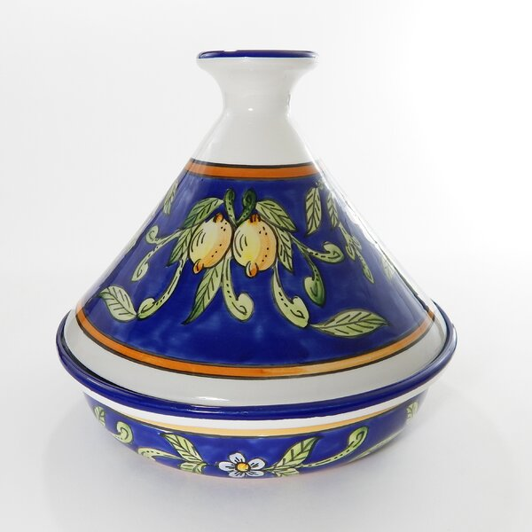 Citronoque 1.5 Qt. Ceramic Round Tagine by Le Souk Ceramique