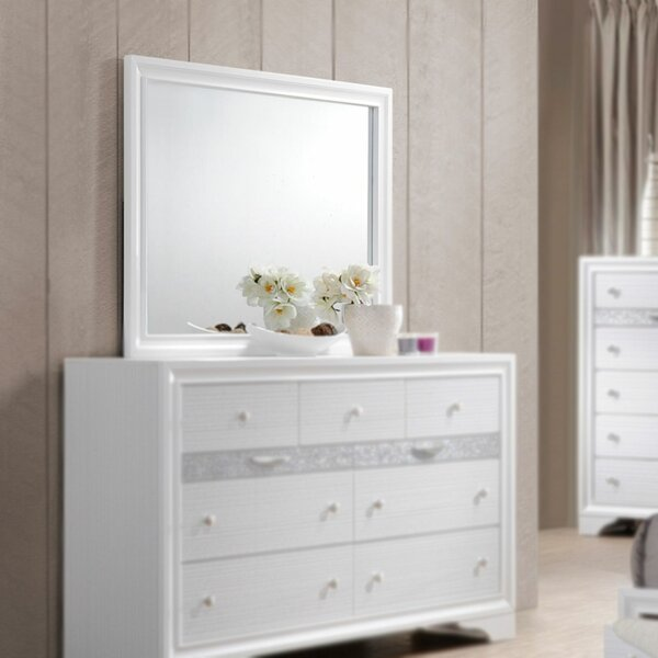 Ines 9 Drawer Dresser with Mirror by House of Hampton