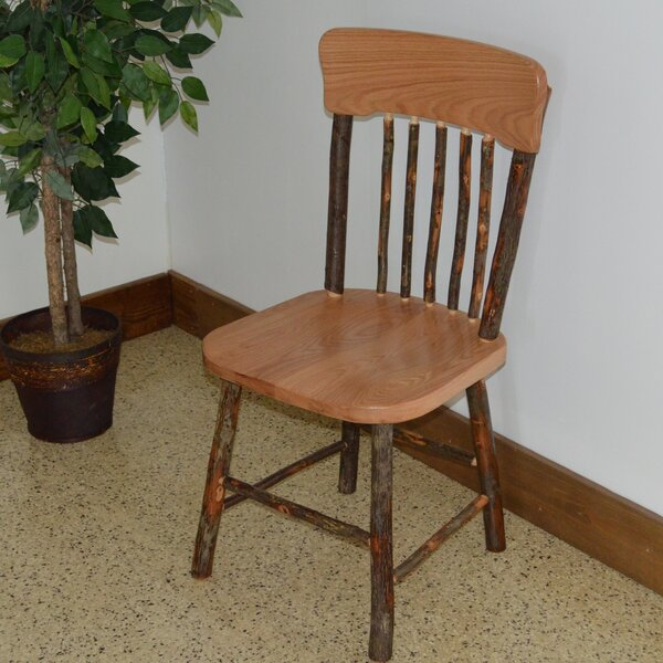 Wyton Hickory Solid Wood Dining Chair by Loon Peak
