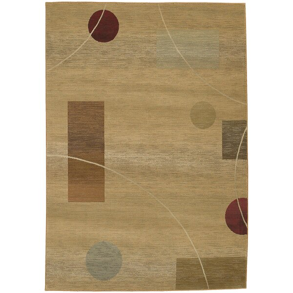 Matilda Beige/Red Area Rug by Red Barrel Studio
