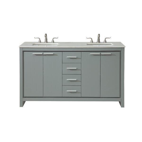 Easterling 60 Double Bathroom Vanity Set by Ebern Designs