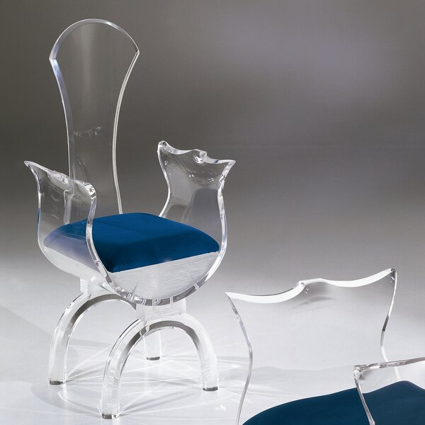 Cleopatra Upholstered Dining Chair by Shahrooz Shahrooz