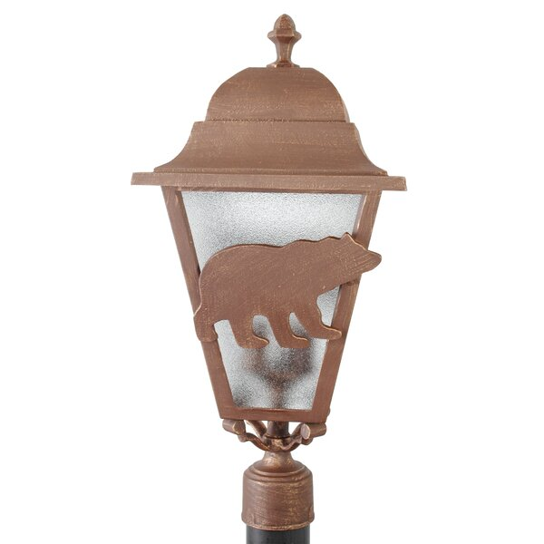 Penfield Bear Series 3 Light 25 Post Lantern by Alcott Hill
