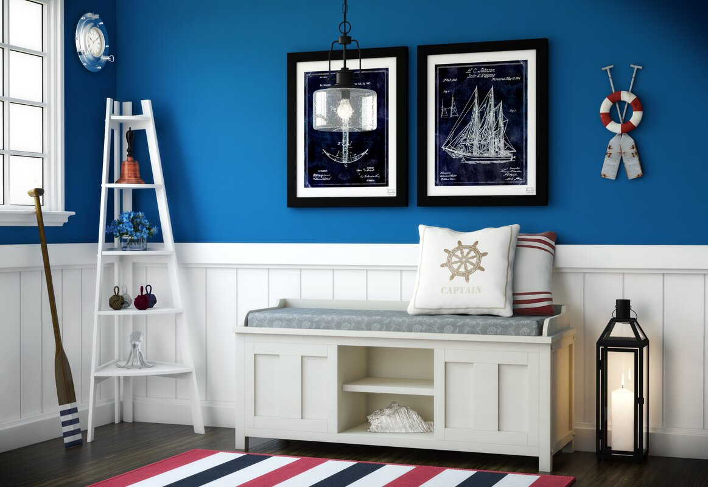 Beachcrest Home Gainsborough Wood Storage Bench & Reviews | Wayfair