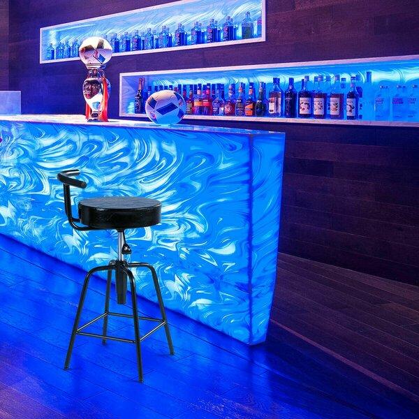 Maplecrest Adjustable Height Swivel Bar Stool by Latitude Run