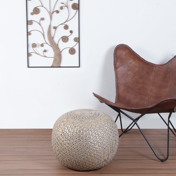 Makris Knit Pouf by Bungalow Rose