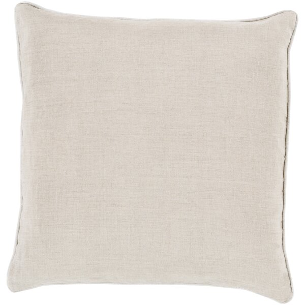Haddam Piped Linen Throw Pillow by Alcott Hill