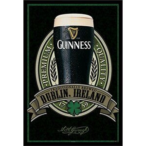 'Guinness Beer Dublin Ireland Traditional Quality' Framed Photographic Print by Buy Art For Less