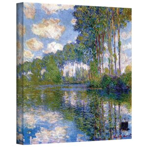 'Trees' by Claude Monet Painting Print on Canvas by Three Posts