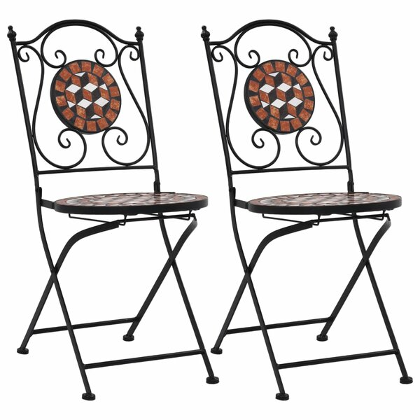Tiba Living Folding Patio Dining Chair (Set of 2) by Fleur De Lis Living