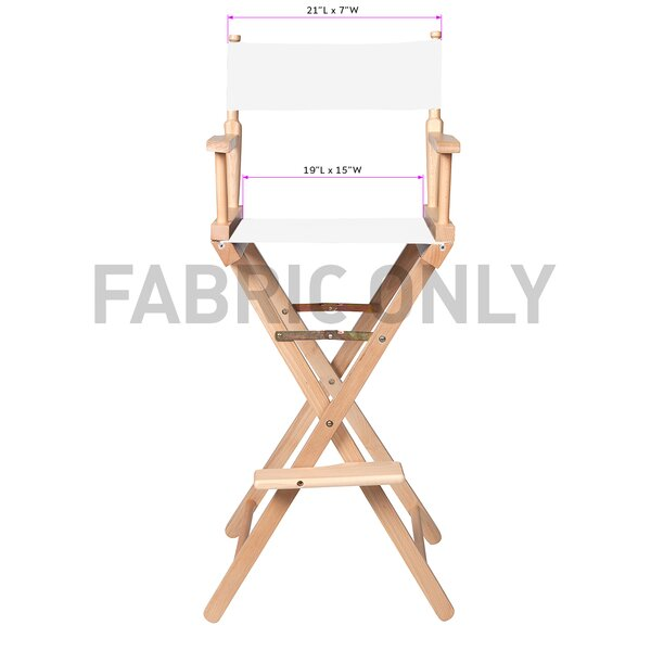 Folding Director Chair Fabric by Trademark Innovations Trademark Innovations