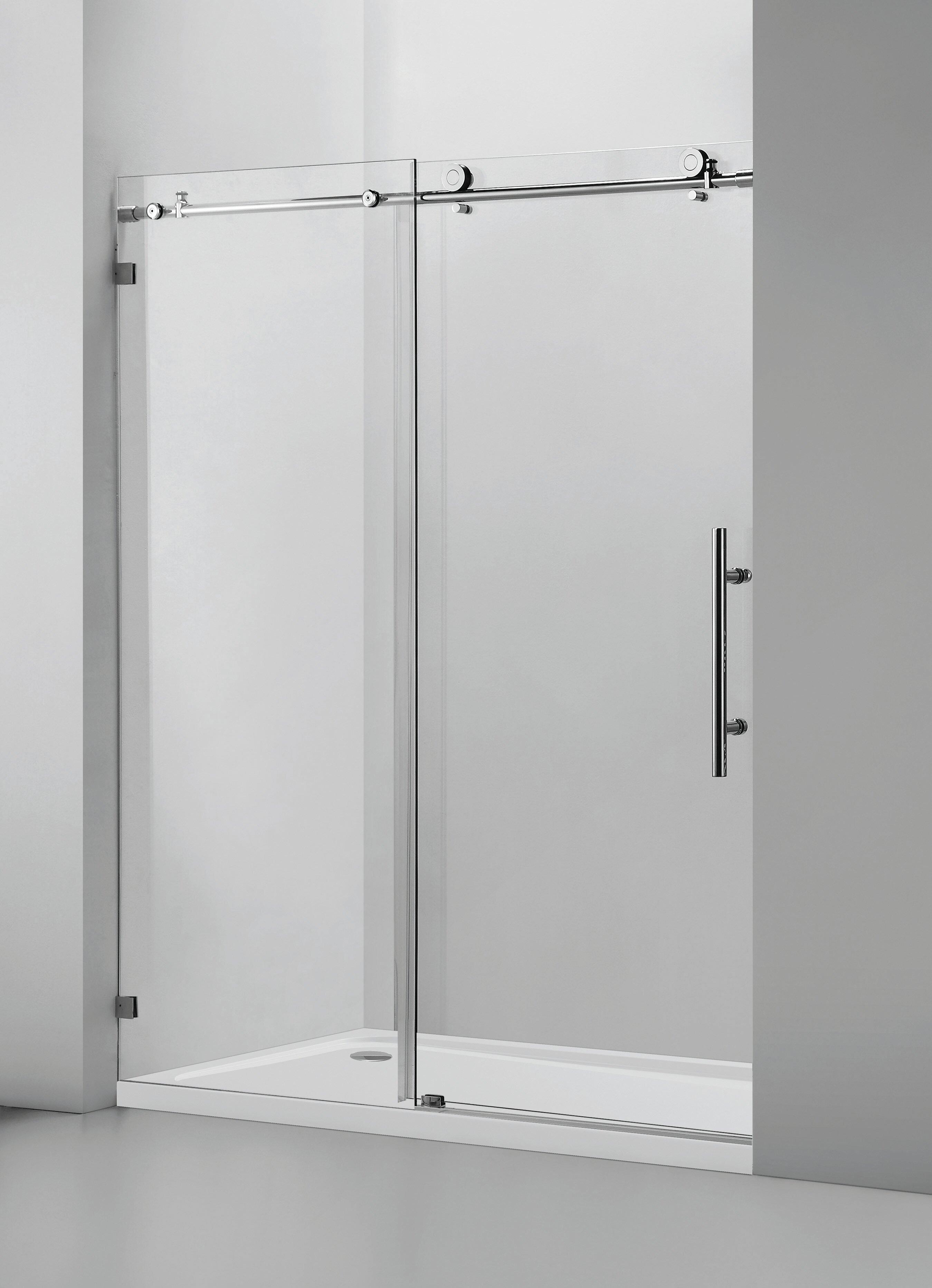 Vanity Art Glass Barn 60 W X 76 H Single Sliding Frameless Shower Door Reviews