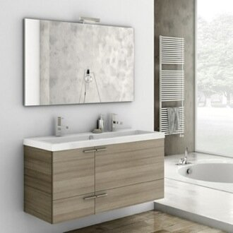 New Space 47 Single Bathroom Vanity Set with Mirror by ACF Bathroom Vanities
