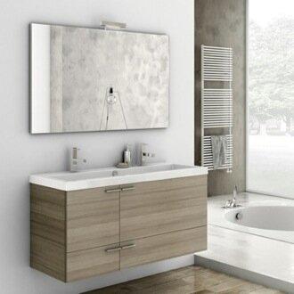 New Space 47 Single Bathroom Vanity Set with Mirror by ACF Bathroom Vanities