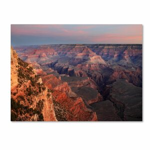 'Grand Canyon Sunrise' by Pierre Leclerc Framed Photographic Print on Wrapped Canvas by Trademark Fine Art