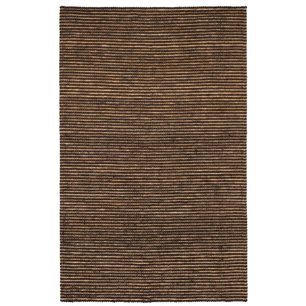 Valerie Hand Woven Cotton Black Pepper Area Rug by Kosas Home