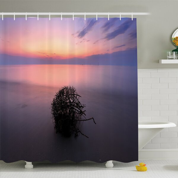 Scenery House Creepy Bushes in Eastern Heaven Serene Mother Earth Home Shower Curtain Set by Ambesonne