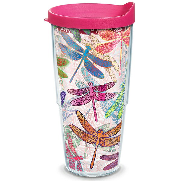 Garden Party Dragonfly Mandala Plastic Travel Tumbler by Tervis Tumbler
