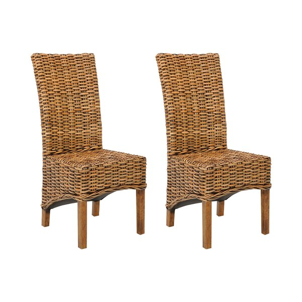 Willow Side Chair In Light Walnut (Set Of 2) By Bayou Breeze
