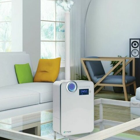 PureGuardian 1.32 Gal. Cool and Warm Mist Ultrasonic Console Humidifier by Guardian Technologies