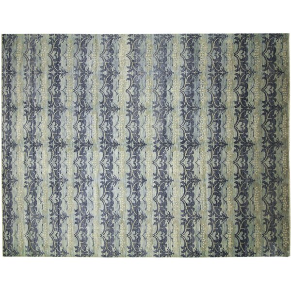One-of-a-Kind Lona Loom Hand-Knotted Rectangle Light Blue Area Rug by Isabelline