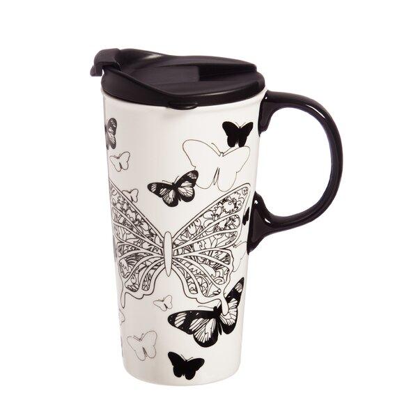 Carsten Butterfly Kisses Travel Mug by Red Barrel Studio