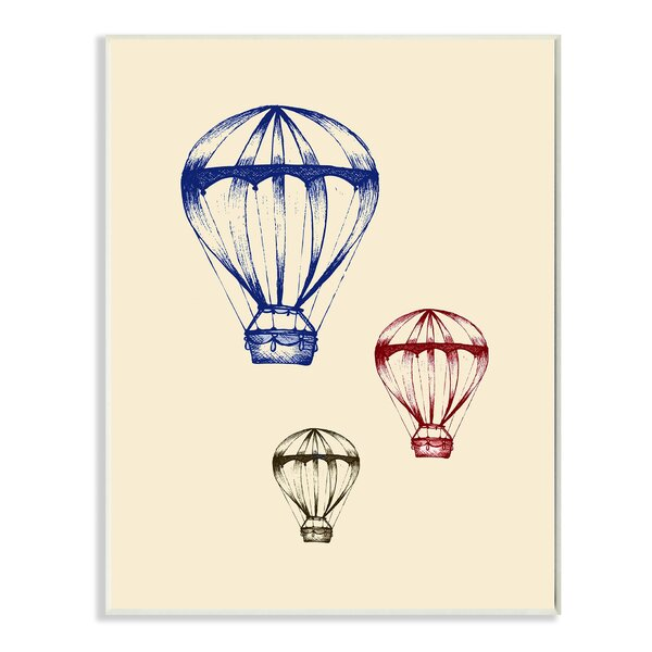 Graphic Hot Air Balloon Wall Plaque by Stupell Industries