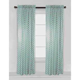 Noah Tribal Dot Cross Single Curtain Panel