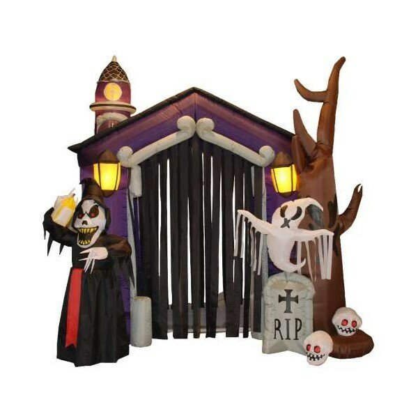 Halloween Inflatable Haunted House Decoration by The Holiday Aisle