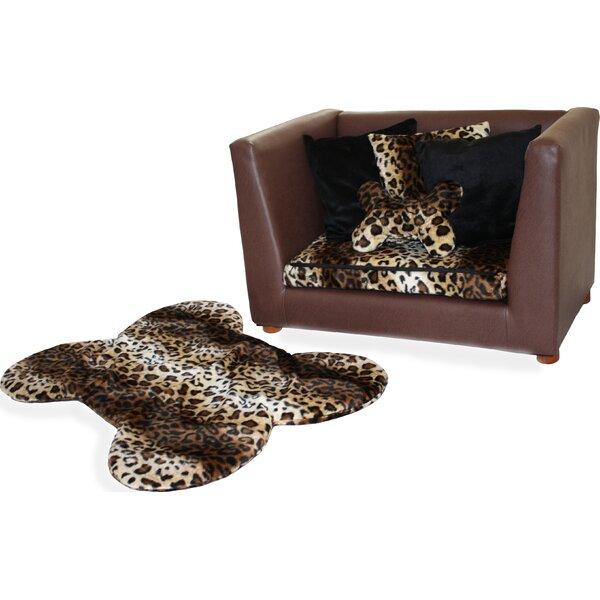 Ozzie Orthopedic Leopard Memory Foam Dog Sofa by Tucker Murphy Pet
