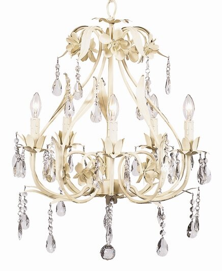 Ballroom 5-Light Candle Style Geometric Chandelier By Jubilee Collection