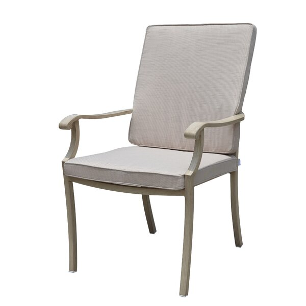 Caressa Patio Dining Chair with Cushion by Darby Home Co