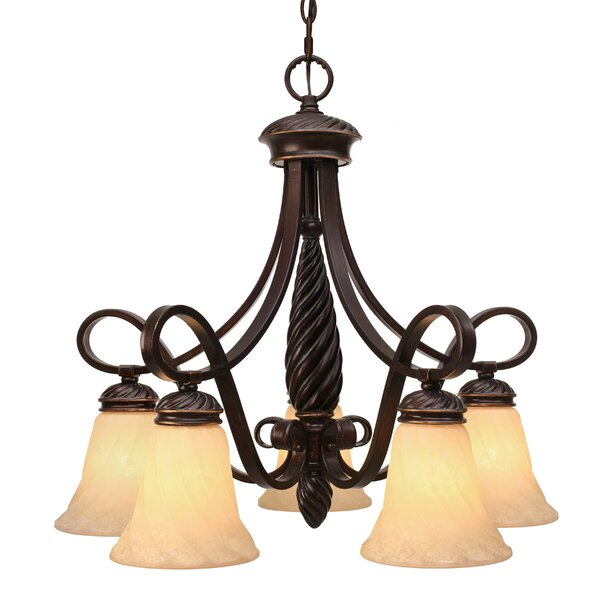 Hoopeston 5 - Light Shaded Classic Traditional Chandelier by Darby Home Co Darby Home Co
