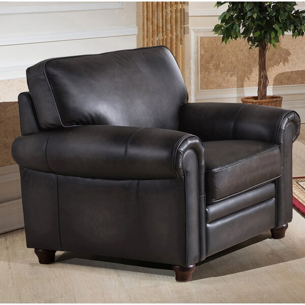 Barta Leather Club Chair by Darby Home Co