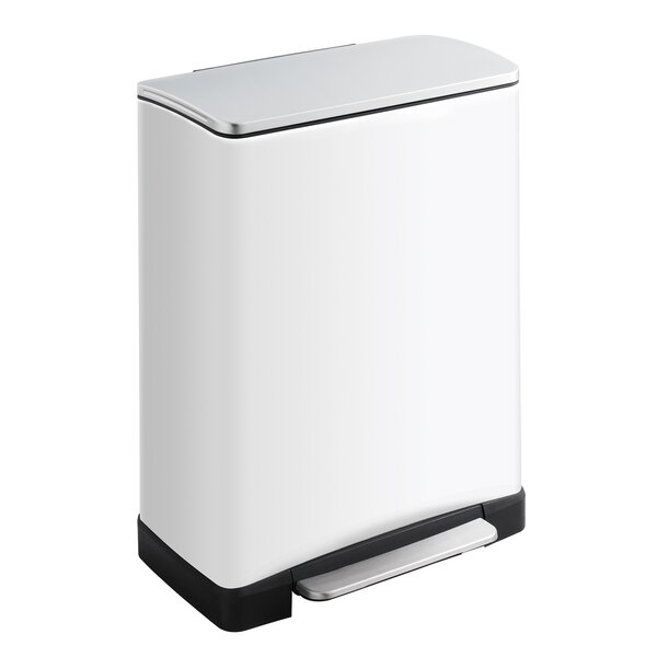 Receptacle 13 Gallon Step On Trash Can by Safco Products Company